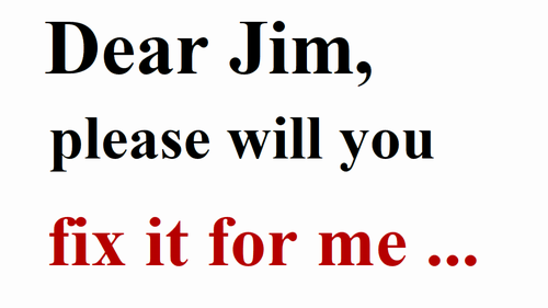Dear Jim, please will you fix it for me ~ - Jim'll Fix it (S1-EP3)